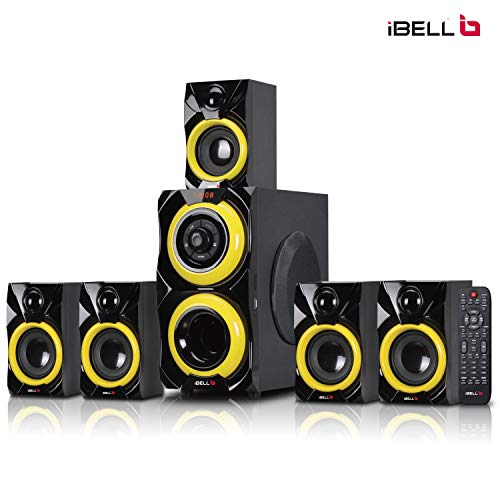 iBELL 2077DLX 5.1 Home Theater Speaker System Multimedia with FM Stereo, Bluetooth, USB/SD/MMC/AUX Function