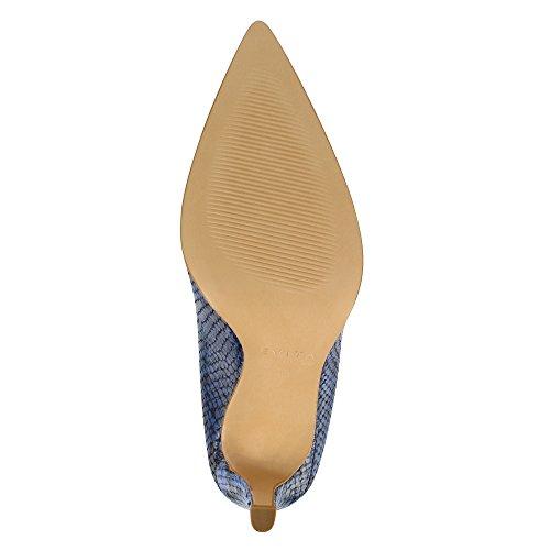 ILARIA escarpins femme imprimé optique serpent bleu foncé