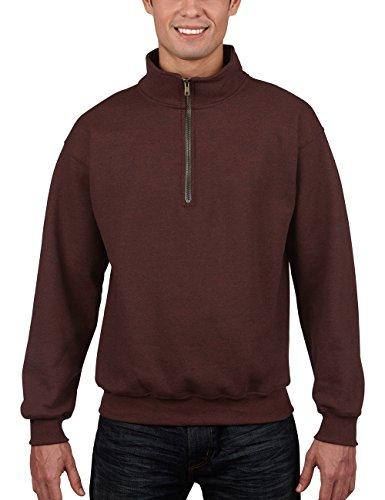 Gildan Herren Adult Vintage 1/4 Zip Sweatshirt/18800, Gr. Small, Braun (Russet 274)