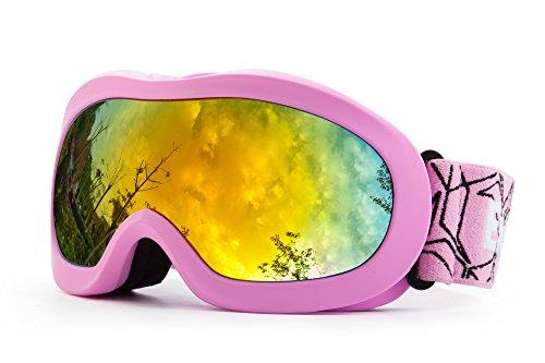 OTG REVO Ski-Brille Anti-Beschlag, UV-Schutz, Snowboard-Brille für den Schnee, Snowboard, Snowmobile, Skateboard, Motorrad, Reiten, Schneebrille für Kinder - Von EnergeticSkyTM