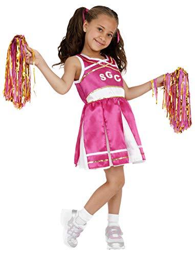 Smiffys Kinder Cheerleader Kostüm, Kleid und Pompons, Größe: S, ()