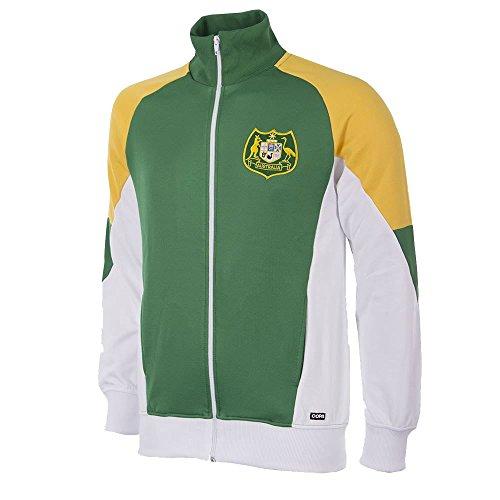 Copa Australien Retro Trainingsjacke 1991 Grün-Gelb-Weiß, XXL