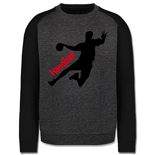 Handball - Handball - Herren Baseball Pullover Dunkelgrau Meliert/Schwarz