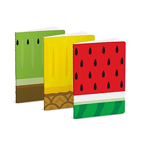 Mustard 3er Packung Notizbücher in verschiedenen Früchte-Designs - Froot