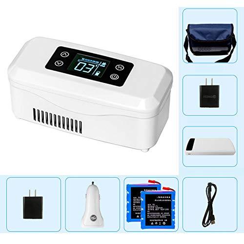 LXMBox Insulin KüHlschrank, tragbares Insulin-Kit, Insulin-Gefrierfach, Auto-Medikamentenkühlschrank, Insulin-Kühler/Inkubator,C -