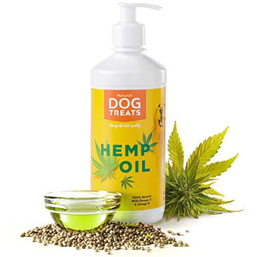 Kaltgepresstes Bio Hanföl 100% Rein Naturprodukt für Hunde, Katzen und Pferde, 500 ml -