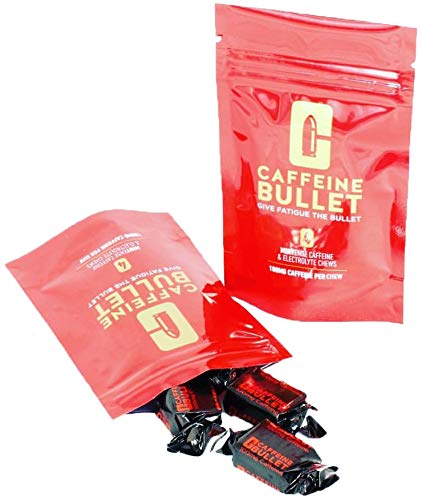 Caffeine Bullet: Koffein und Elektrolyt pfefferminz kaubonbons. Pre-Gym Workout, Sport, Laufen and Radfahren. Koffein-Ergänzungsmittel für einen Sehr Schnellen Energieschub (4) -