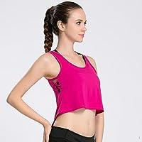 Deporte De Las Mujeres Fitness Navel Tanque De Secado Rápido Entrenamiento Profesional Yoga Fitness Sports Loose Smock,Red,L
