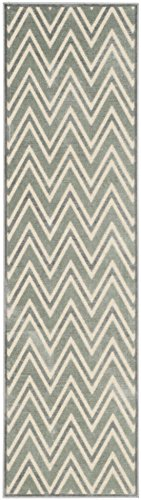 Safavieh Moderner Teppich, PAR356, Gewebter Viskose Läufer, Grau / Mehrfarbig, 62 x 240 cm