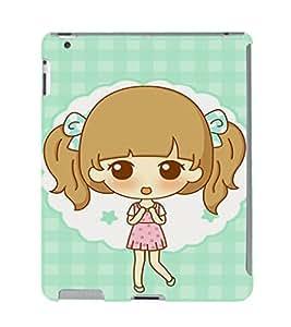 EPICCASE Excited Little Girl Mobile Back Case Cover For Apple Ipad 2/3/4 (Designer Case)