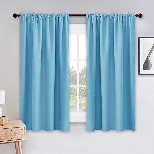 Sliding Top-panels (PONY DANCE Rod Pocket Verdunklungsvorhänge Set-Isoliert Vorhang Panels Lärm reduzierende Fenster Behandlung Drapes für Schlafzimmer 2X 42 W X 54