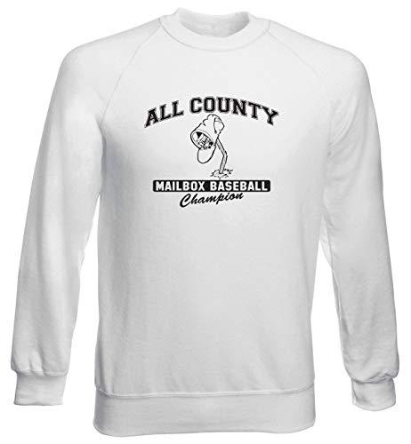 T-Shirtshock Rundhals-Sweatshirt fur Mann Weiss TRK0349 Mailbox (Fun Mailbox)