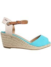 Zapatos de cuña de Mujer MTNG 51846 WICAM TURQUESA