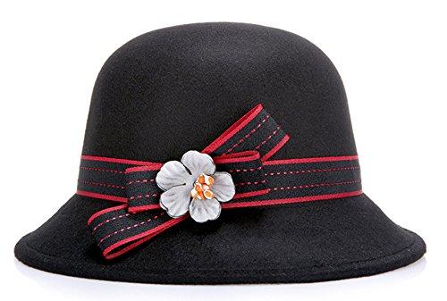 Mme Qualité Bonnet De Laine Dôme Black