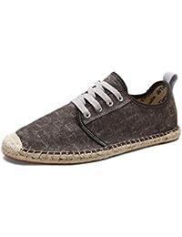 Zapatos de Lona Hombre Verano Plimsolls Alpargatas Moda Pescador Transpirable con Cordones Zapatos…