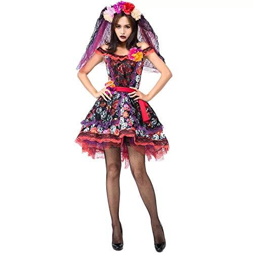 Corpse Kostüm Cosplay Bride - Averyshowya Halloween Kostüm Für Erwachsene Frauen Halloween Corpse Bride Kostüm Cosplay Dress @ L