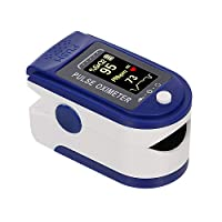 Fingertip Pulse Ox-ime-ter Mini SpO2 Moni-tor Oxygen Saturation Moni-tor Pulse Rate Perfusion Index Measuring Gauge Device 5s Rapid Reading with Lanyard