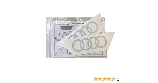 Audi Original Q2 Emblem Aufkleber Ringe Dekorfolie Für Die C Säule C Blade Farbe Brillantschwarz Auto