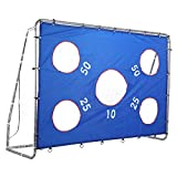 Fußballtor Fußball Tor Trainer mit Torwand Soccer Goal Garten Groß HxBxT: 171cm x 244cm x 85cm mit Nylon-Netz