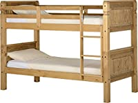 Seconique Corona 3 Feet Bunk Bed - Distressed Waxed Pine