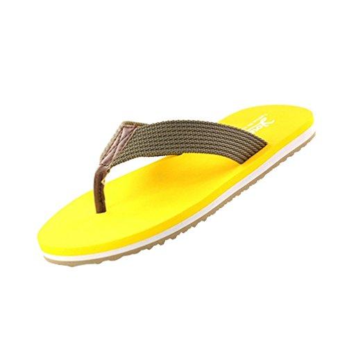Infradito Pantofole Graduale Giallo Sandali Unisex Coppie Casuale Baymate Colore Adulto Uomo wZ7qEg6