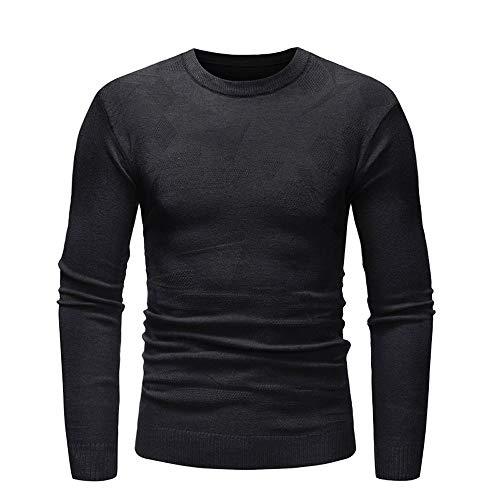 Herren Strickpullover,TWBB Einfarbig Casual Oberteile Pullover Warm Schlank Sweatshirt Lange Ärmel Shirt