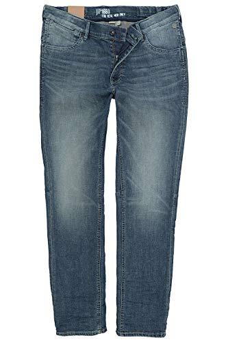 JP 1880 Herren große Größen bis 70, Jeanshose, Hose mit elastischen Gummieinsätze, Straight Fit, Denim, 5-Pocket, Travellar-Bund Blue Stone 31 718215 91-31