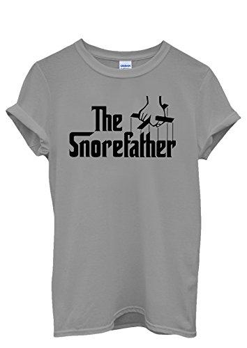 The Snore Father Cool Funny Men Women Damen Herren Unisex Top T Shirt Grau