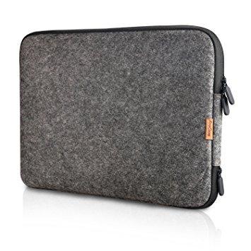 ProCase 12 Zoll Schutzhülle Filz Laptop Sleeve Tasche, 12 Zoll MacBook mit Retina Microsoft Surface Pro 7 6 5 4 3 und Andere 11-12 Zoll Chromebook Ultrabook Notebook- Schwarz