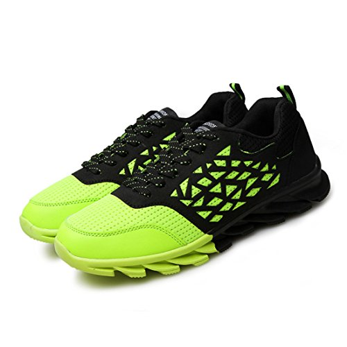 Men's Lace Up Breathable Trainers Shoes green