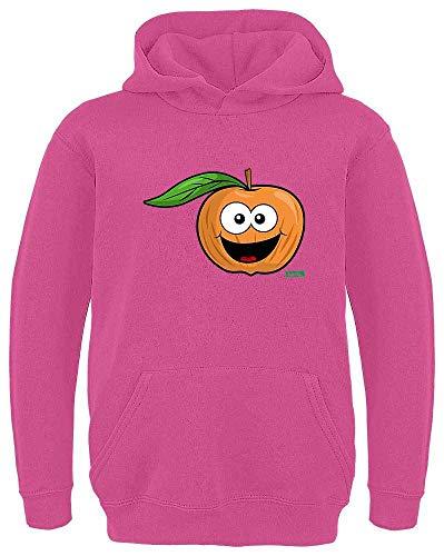 Kostüm Erwachsene Pfirsich Für - HARIZ Kinder Hoodie Pfirsich Lachend Früchte Bunt Plus Geschenkkarte Pink 116/5-6 Jahre