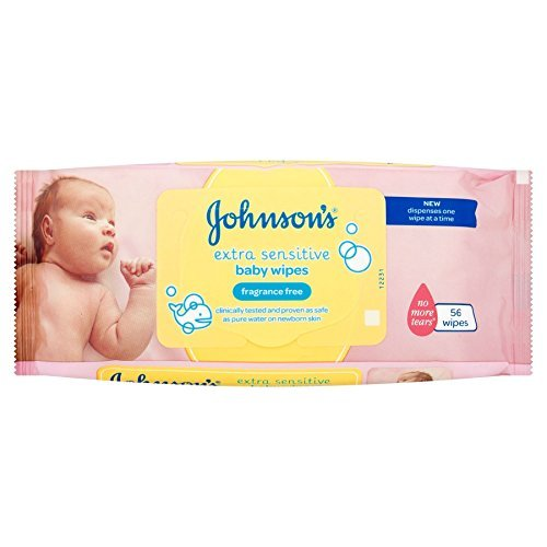 Johnson's® Extra Sensitive Baby Wipes 56 Wipes 410yx8xahpL