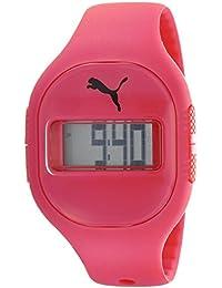 Puma Sicherung Unisex Digital Uhr mit Rot Zifferblatt Digital Display und rot PU Gurt PU910921003