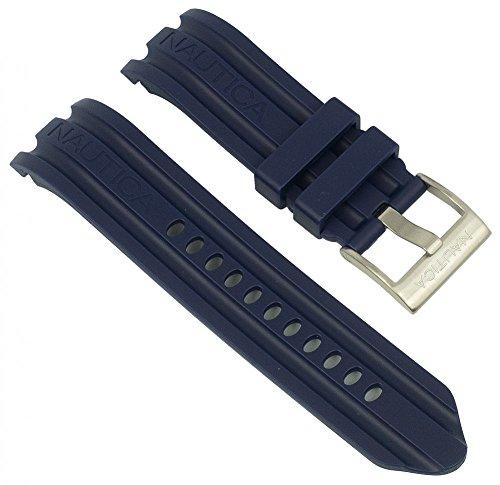 Nautica Uhrenarmband Kunststoff blau passend zu N15564G BFD 100