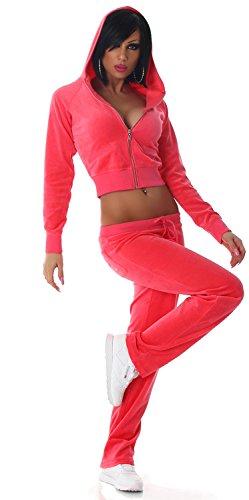 Jela london jogger pantalon & veste avec capuche Orange - Abricot