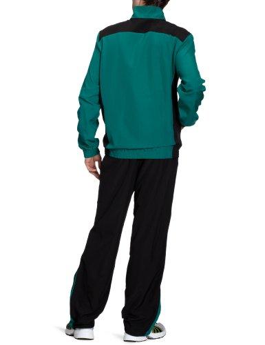 PUMA Herren Trainingsanzug Foundation Woven Suit Team Green/black