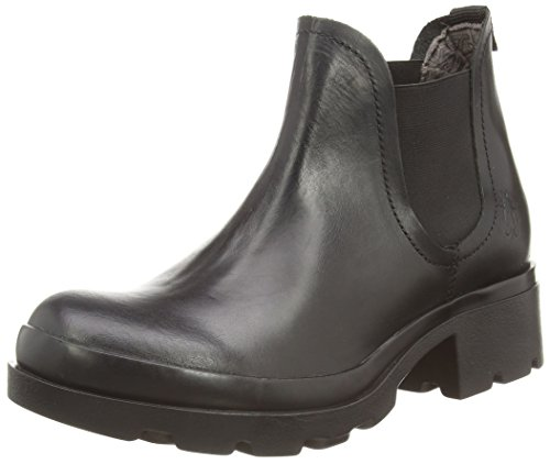 Fly London - Mena, Chelsea Boots da donna Negro (Negro 000)
