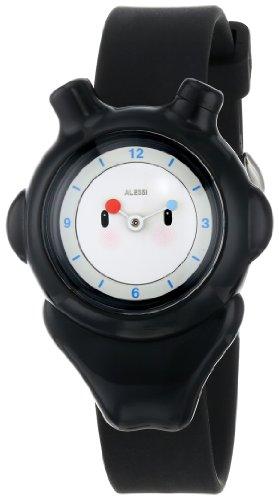 Alessi - AL23002 - Montre Mixte Enfant - Automatique - Analogique - Bracelet Plastique Noir