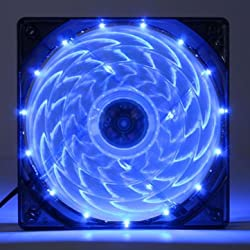 Generic 3/4-Pin 120mm PC Computer Case CPU Cooler Cooling Fan with LED Light-Blue