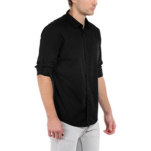 Dennis Lingo Men's Cotton Solid Casual Shirt