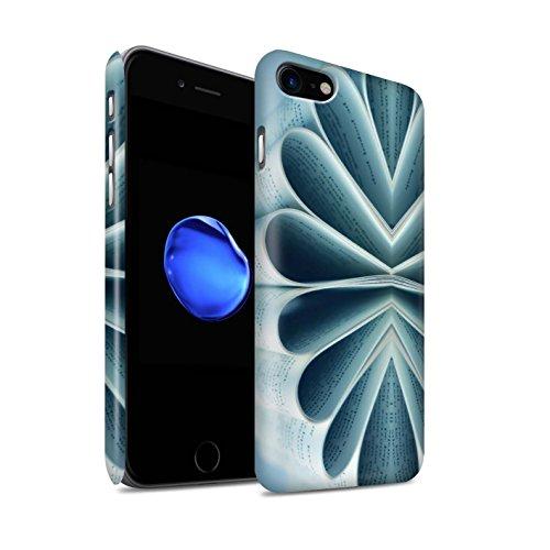 STUFF4 Matte Snap-On Hülle / Case für Apple iPhone 8 / Bleistifte/Zip Muster / Abstrakte Kunst Kollektion Buch/Papierblume