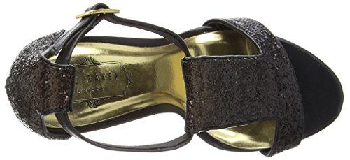 Ted Baker - Pwimwrose 2, Scarpe col tacco Donna Nero (Noir (black/gold))