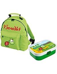 Preisvergleich für Mein Zwergenland Set 1 Kindergartenrucksack und Brotdose Brotdose Mepal mit Bento Box und Gabel Classic mit Namen...