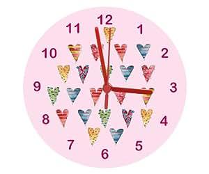 Filles Horloge, sucre cœurs Horloge, GLOCK pour fille, filles Chambre