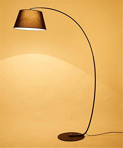 Atmko®Lampada da Terra Lampada a Stelo Piantana lampada da terra ARC camera da letto moderna lampada da terra di lettura salotto bianco o nero , A