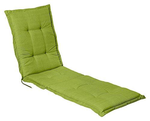 """Auflage Polster für Liegestuhl und Garten-Liege extra lang und extra dick verarbeitet """"Madison Grün"""""""