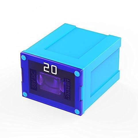 Auprotec® JCASE LP fusible bloque Low Profile femelle OTO JLP fusibles japonais choix: 20A Ampere turquoise, 1 pièce