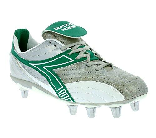 Diadora Rugby Low SC 8 Schuhe Herren Echtleder Rugby-Schuhe Sportschuhe Silber 145239 01 C1971