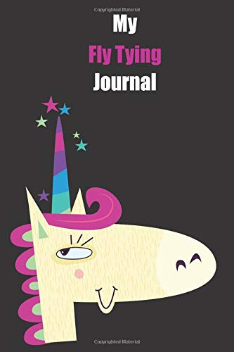 My Fly Tying Journal: With A Cute Unicorn, Blank Lined Notebook Journal Gift Idea With Black Background Cover Diamond Plate-shirt