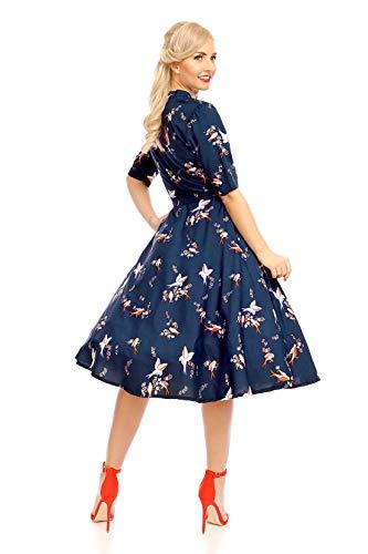Looking Glam Robe Chemise pour Femmes de Style Rétro Vintage d'Inspiration années 1940